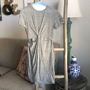 Front cut out jersey dress